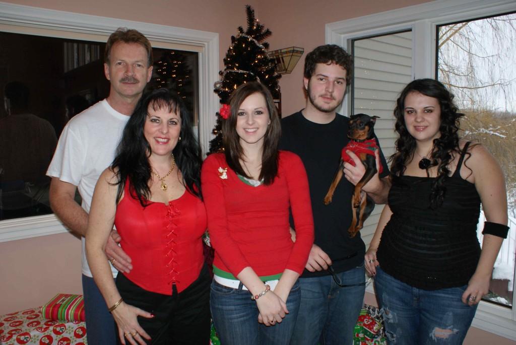 Doug, Karen, Sharna, Daniel (Cody) & Krystal.