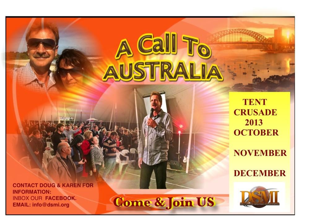 TENT  CRUSADES IN AUSTRALIA 2013