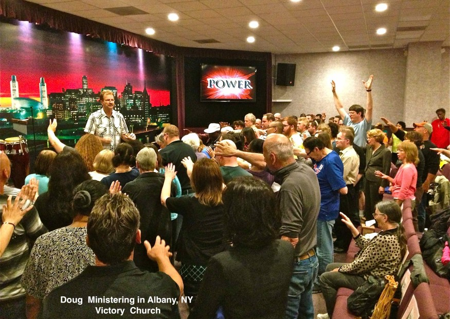Doug Ministering at Albany          Victory Church