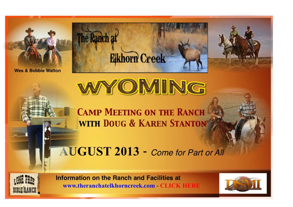 DSMI CAMP MEETING WYOMING _ August 2013