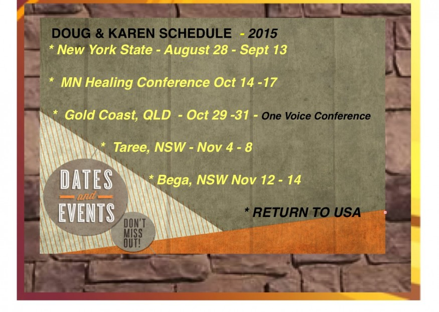 Dates & Events:AUG:2015